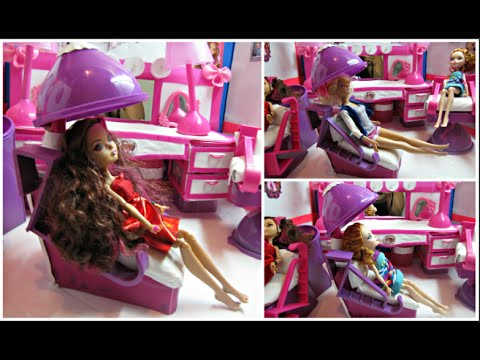 Hacer Barbie After Ever Como De Secadora Una Silla Para High Cabello Munecas DE2IH9