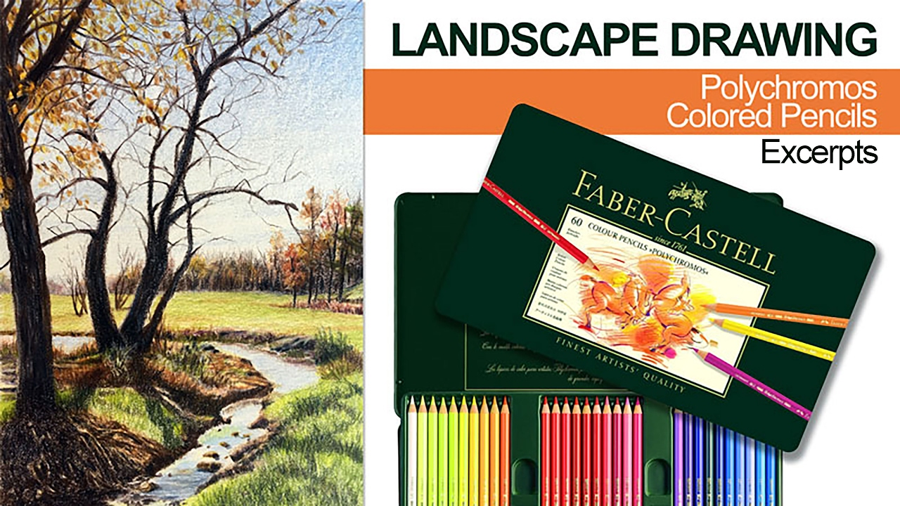 Landscape Drawing With Colored Pencils - YouTube