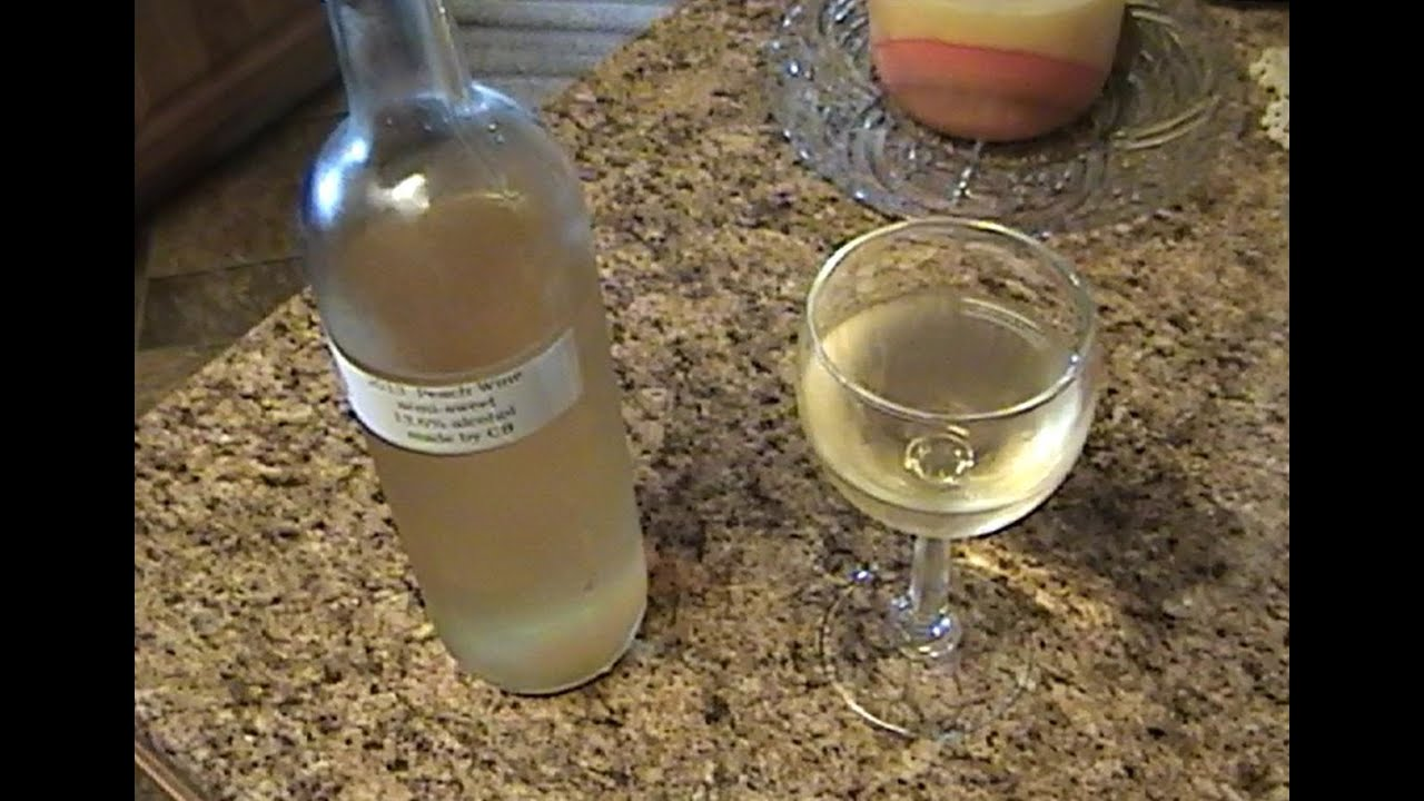 Making Homemade Peach Wine Youtube