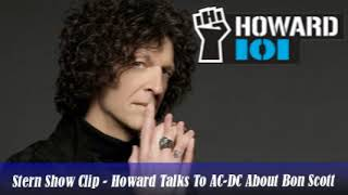 Stern Show Clip   Howard Talks To AC DC About Bon Scott