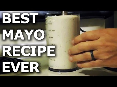 BEST Mayonnaise Recipe EVER! - How to Make Homemade Mayo - BroBryceCooks