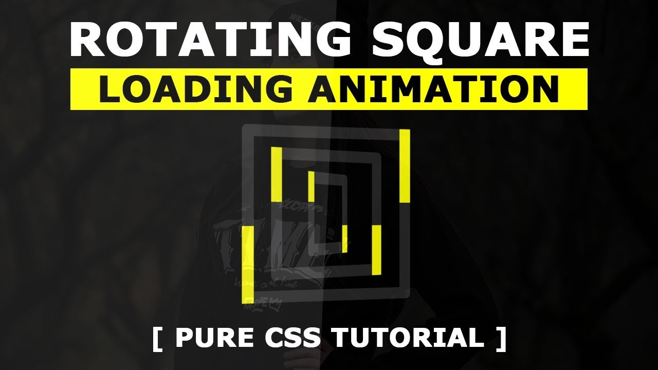 3D Rotating Square Loading Animation Effects - Pure Html CSS Loader Tutorial
