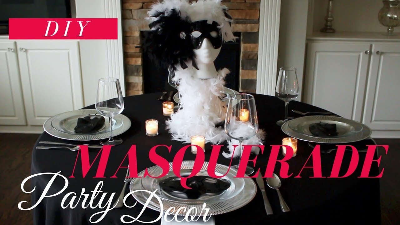 Diy Masquerade Party Decoration Ideas Masquerade Centerpiece
