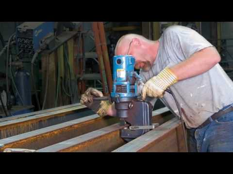 Hougen Ogura Electro Hydraulic Hole Punchers Youtube