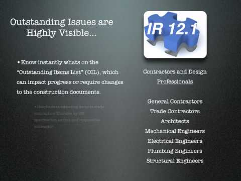 IR 12.1 Construction Inspection Reporting System
