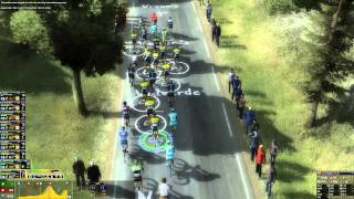 Pro Cycling Manager 2014 - Mountain Gameplay: Hautacam [720p]