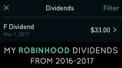How much money can you make from dividends | ROBINHOOD APP
