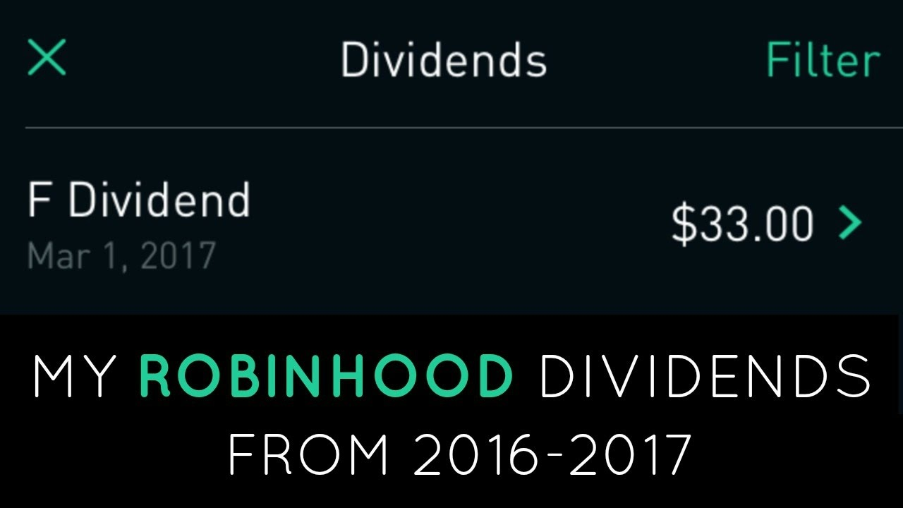 How much money can you make from dividends | ROBINHOOD APP ...
