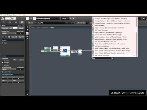 Working with Phase Modulation in Reaktor