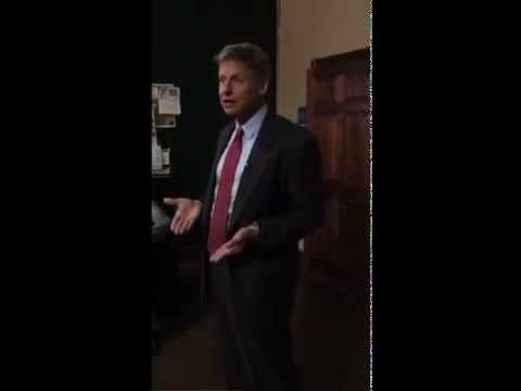 Gov. Gary Johnson Speaks at Shut-Down Dispendary in Fort Collins, Colorado 10/19/12