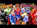 Thanos vs Avengers + Spiderman - Superman Hulk, Thor, Black Panther Full Fight! Part 1