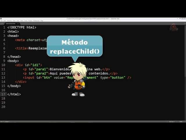 43.- Curso de JavaScript para principiantes. replaceChild y removeChild.