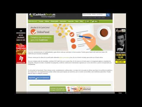 Cashback Deals / Gana 7'50€ solo por registrarte #Cashback