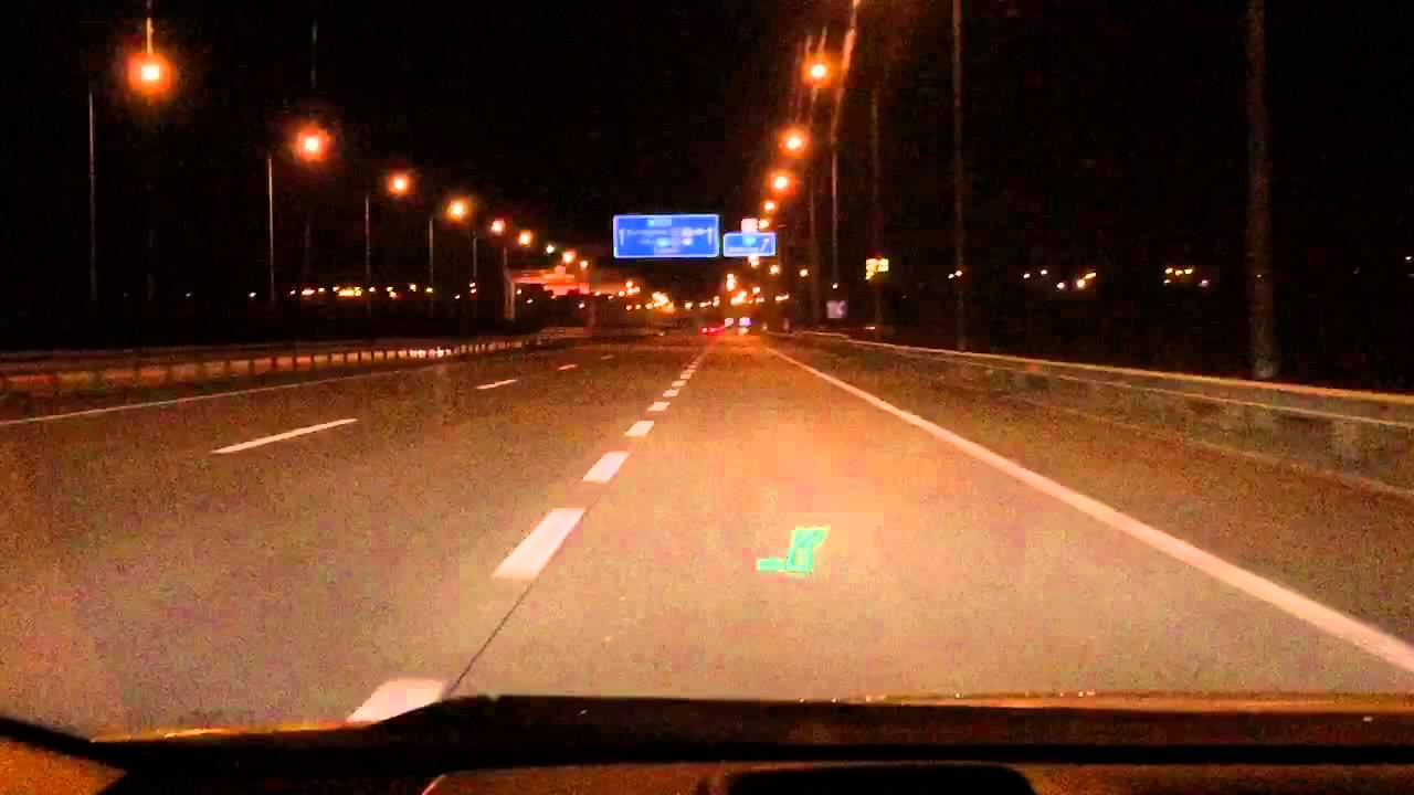 prius head up display navigation on motorway youtube. Black Bedroom Furniture Sets. Home Design Ideas