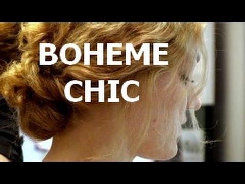 chignon coiffure boh me chic youtube. Black Bedroom Furniture Sets. Home Design Ideas