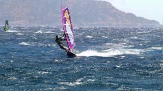 Windsurfing auf Karpathos mit Attila Nagy 2010.Starboard Acid. Neilpryde Combat 3,5,Spedd jibe.