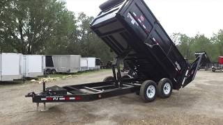 7x14 PJ Trailers Dump Trailer - Low Pro with High Sides