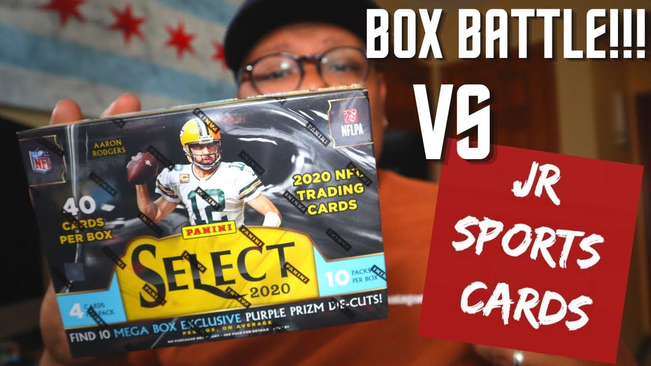 BOX BATTLE VERSUS @JR Sports Cards! 2020 Panini Select Football MEGA Box! *GIVEAWAY*
