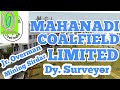 MCL RECRUITMENT Full Notification || Junior overman Mining Sirdar Surveyor