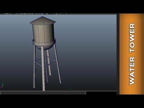 Autodesk Maya 2014 Beginner - Modeling Water Tower Tutorial