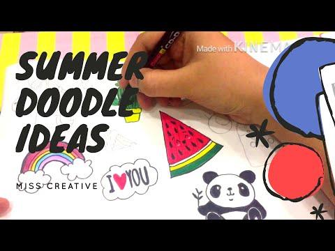 Bullet journal summer theme 2018/ Summer doodle ideas/ MISS CREATIVE making cute kawai face☺️