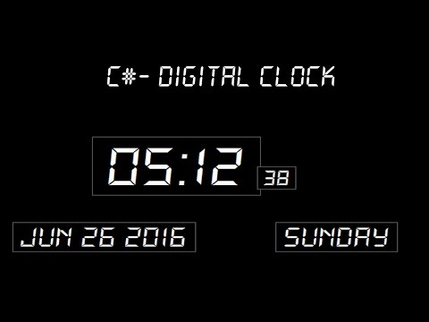 Digital Clock In C#