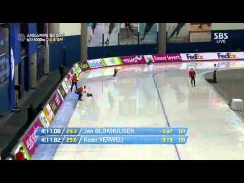 1st WC 5000m men pair 5in  jan Blokhuijsen, out  koen Verweij