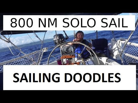 800 mile Solo Sail from Bahamas to Puerto Rico - Sailing Doodles Episode 19