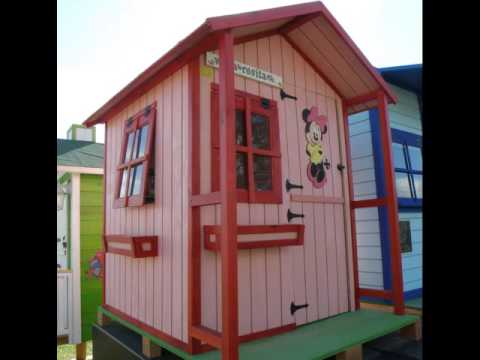Casitas infantiles de madera youtube for Casita de plastico para jardin