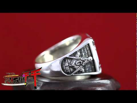 "925 Sterling Silver Antique Knights Templar Masonic Ring ""In Hoc Signo Vinces"""