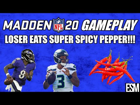 Madden 20 Gameplay LOSER EATS SPICY PEPPER - Alex vs Anthony of Fireside Giants