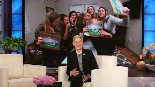 Ellen Surprises Superfan Sorority Sisters!