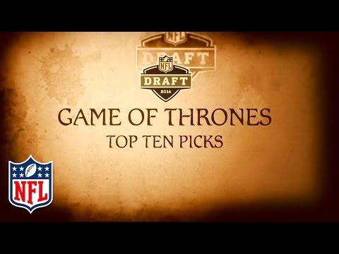 Game of Thrones 2016 Mock Draft (Picks 1-10) | Winter Is Coming | NFL