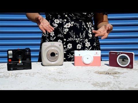 Best instant cameras 2019 Canon Ivy Cliq+, Minolta Instapix, Polaroid Onestep+, Fujifilm Instax SQ20