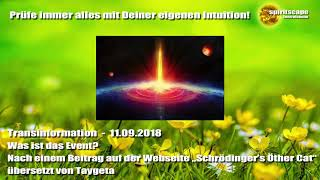 Was ist das Event? - Transinformation - 11.09.18