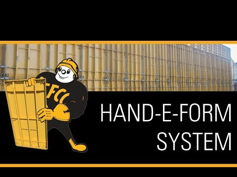 How to accommodate different wall heights with the HAND-E-FORM System