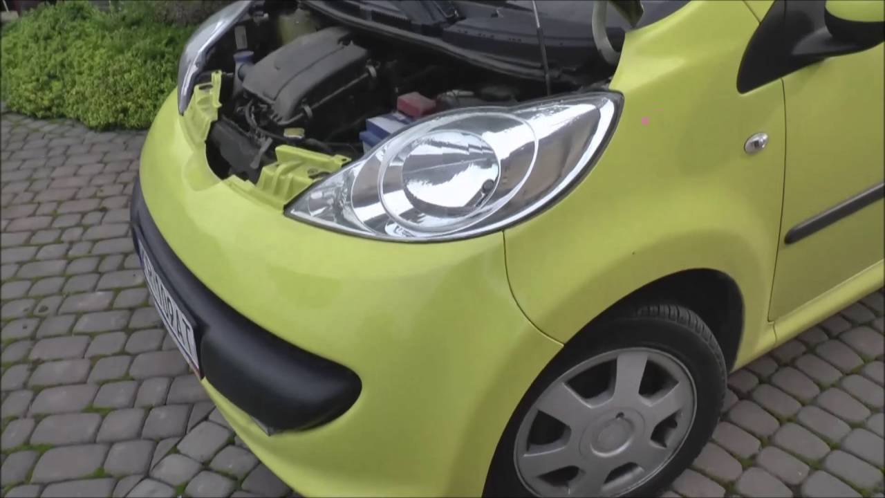 How To Remove Headlight Change Bulb Aygo Peugeot 107 Citroen C1 Youtube