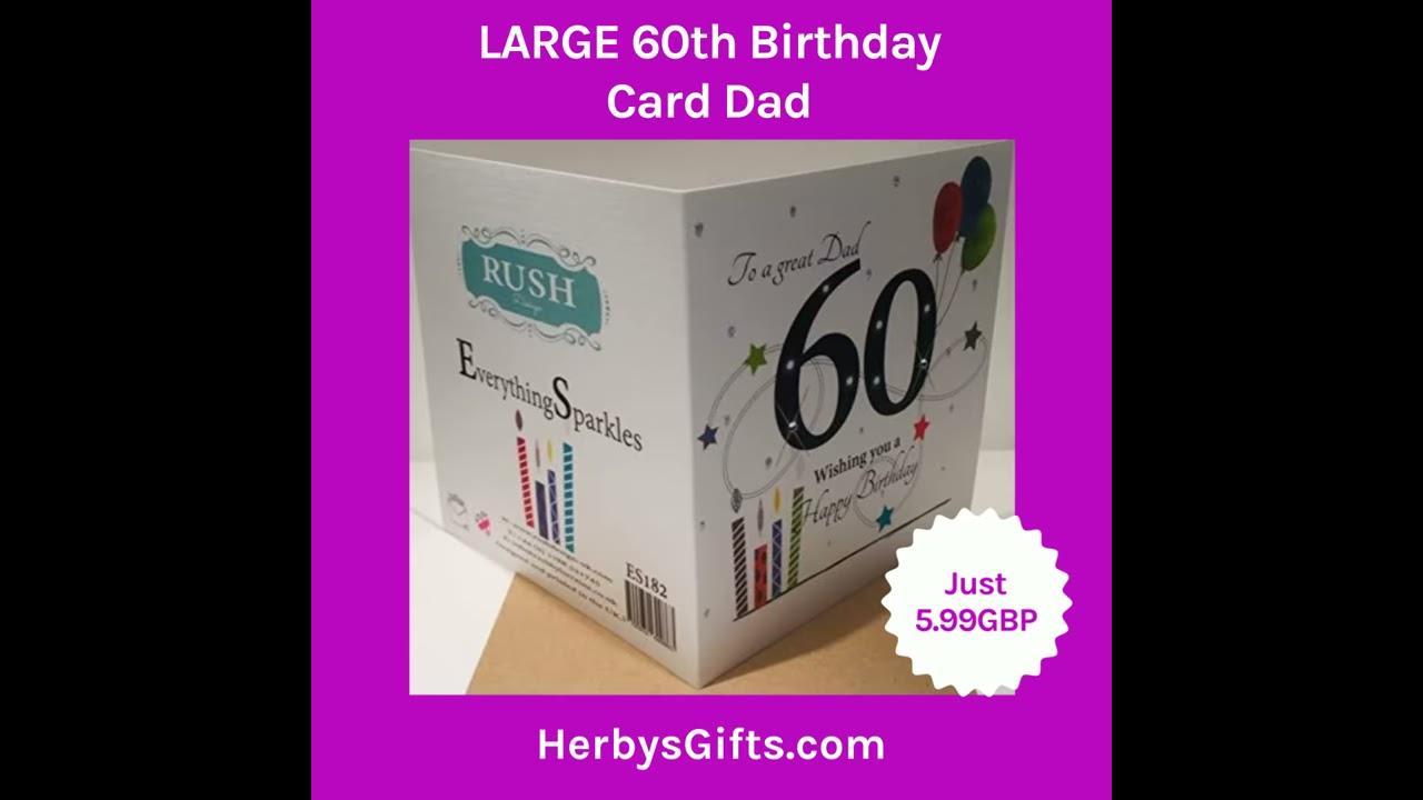 LARGE 60th Birthday Card Dad 2019