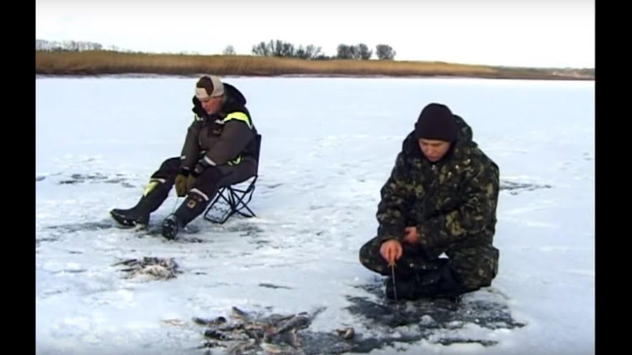"""Зимняя Рыбалка на Хищника по первому льду на пруду. """"О Рыбалке Всерьез"""" видео 4."""