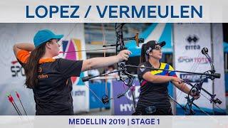 Sara Lopez v Jody Vermeulen – compound women gold |Medellin 2019 World Cup S1