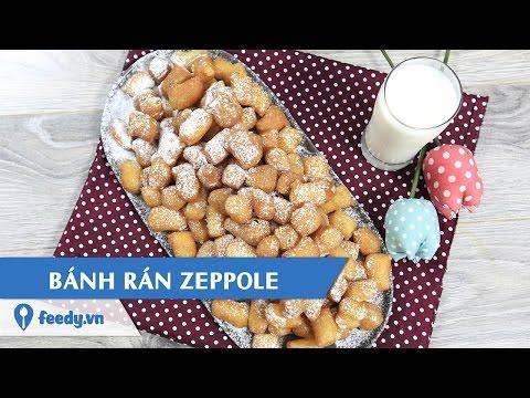 Hướng dẫn cách làm Bánh rán Zeppole kiểu Ý - Zeppole doughnuts với #Feedy