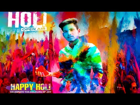 Holi Special Photo Editing Tutorial || Photoshop Tutorial thumbnail