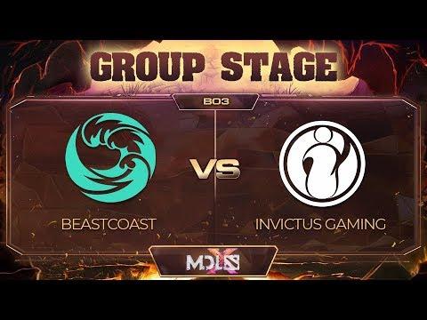 beastcoast vs Invictus Gaming Game 2 - MDL Chengdu Major: Group Stage