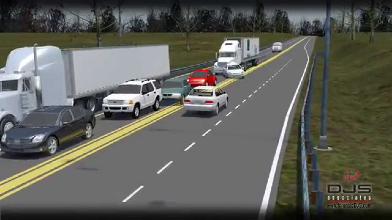 3D Animation: Multi Car Accident - YouTube