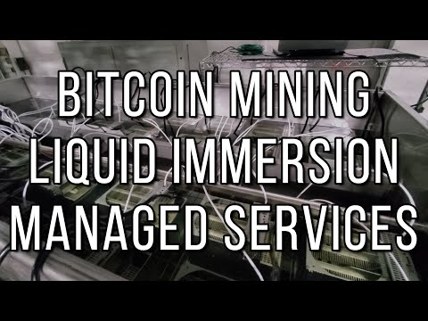 Liquid Immersion And Air Cooled Managed Services For Bitcoin Miners With 300+ Miners.