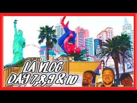 SPIDERMAN IN VEGAS, ROAD TRIP & PARKOUR | LA Vlog Day 7-10 | Team GNT