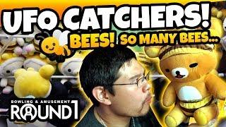Video SO MANY BEES! Winning UFO Catcher Plush Prizes at Round 1 Arcade UFO Catchers ! TeamCC download MP3, 3GP, MP4, WEBM, AVI, FLV Agustus 2018