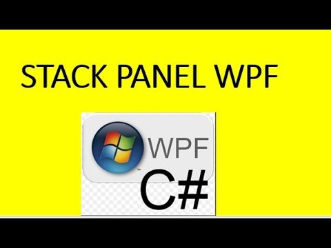 Stack Panel In WPF Tutorial Part 2
