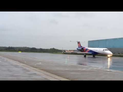 Eastern Airways Embraer Water Arch