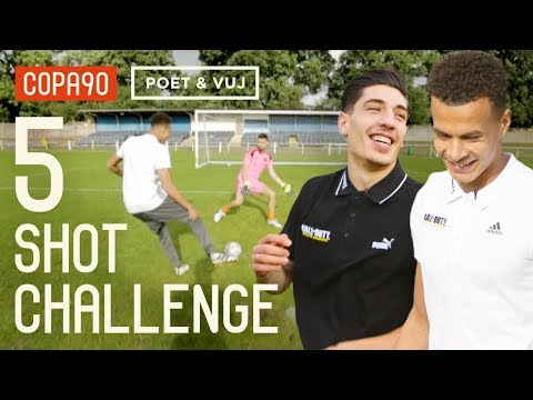 Hector Bellerin vs Dele Alli! 5 Shot Challenge with Vuj and Timbsy